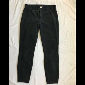 J Crew Charcoal Grey Corduroy Toothpick Pants 27